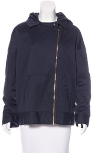 Marc by Marc Jacobs Hooded Asymmetrical Zip Twill Convertible Navy Jacket