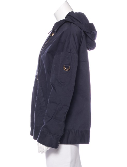 Marc by Marc Jacobs Hooded Asymmetrical Zip Twill Convertible Navy Jacket Image 1