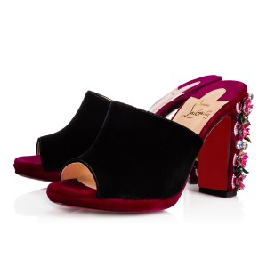 Christian Louboutin Stiletto Classic Embroidered Donaflor Floral black Pumps