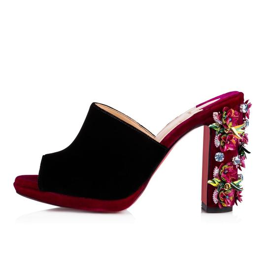 Christian Louboutin Stiletto Classic Embroidered Donaflor Floral black Pumps Image 2