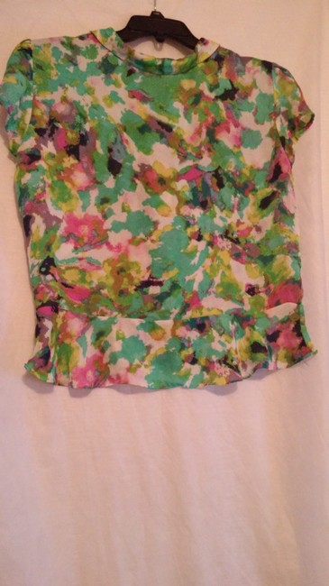 Essentia Leigh Top green,pink,multi Image 6