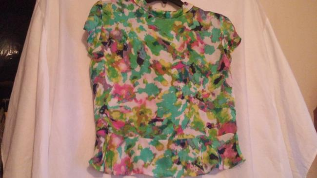 Essentia Leigh Top green,pink,multi Image 7