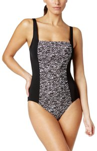 84638a907b Calvin Klein Calvin Klein Womens Square-Neck Ruched One-Piece Swimsuit  Black Size 6