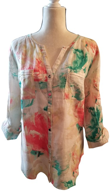 Preload https://img-static.tradesy.com/item/23621317/jm-collection-floral-printed-linen-button-down-top-size-14-l-0-1-650-650.jpg