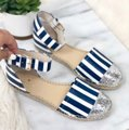Kate Spade Blue white silver Sandals Image 1