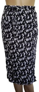 Fendi Grey, black, white Fendi Zucca print adjustable wrap skirt