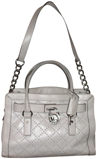 Preload https://img-static.tradesy.com/item/23621490/michael-kors-check-it-out-hamilton-hand-with-stonesi-gray-leather-shoulder-bag-0-1-540-540.jpg