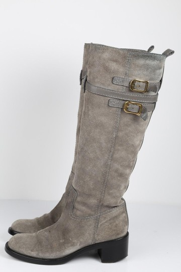 Gucci Suede Gray Boots Image 1