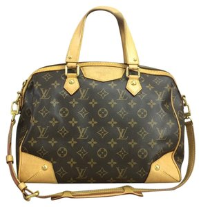 Louis Vuitton Lv Monogram Retiro Pm Canvas Satchel in brown