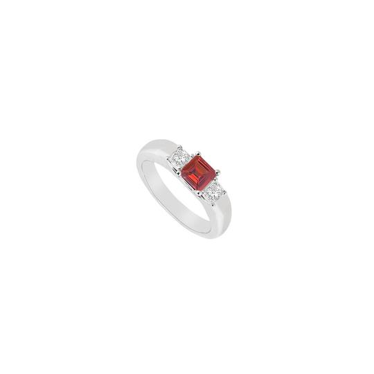 Preload https://img-static.tradesy.com/item/23622139/white-red-three-stone-created-ruby-and-cubic-zirconia-925-sterling-silver-ring-0-0-540-540.jpg
