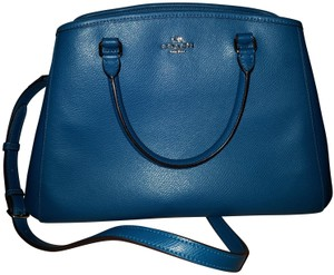Coach Leather Satchel in Teal