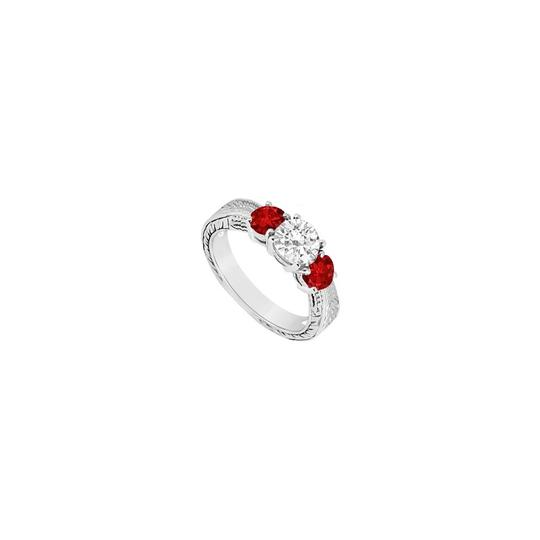 Preload https://img-static.tradesy.com/item/23622270/white-red-three-stone-created-ruby-and-cubic-zirconia-925-sterling-silver-ring-0-0-540-540.jpg
