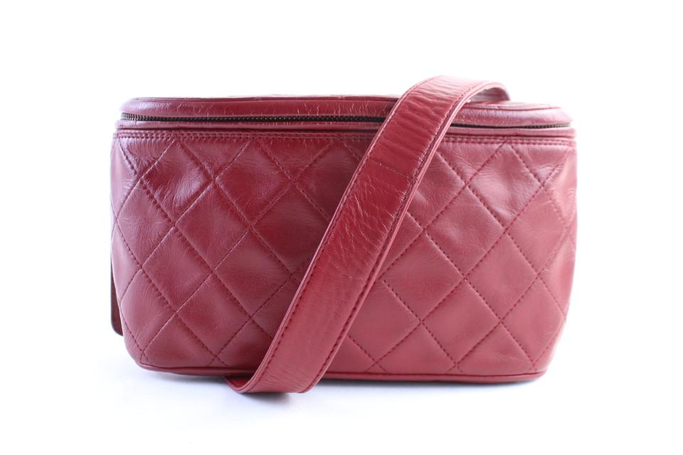 d784629f4733 Chanel Fanny Pack Waist Pouch 1cr0703 Red Quilted Leather Cross Body ...
