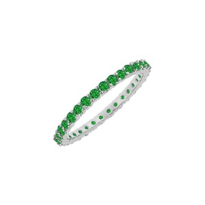 DesignerByVeronica Designer May Birthstone Emerald Bangle in 925 Sterling Silver