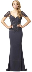 Silver Maxi Dress by Mac Duggal Couture