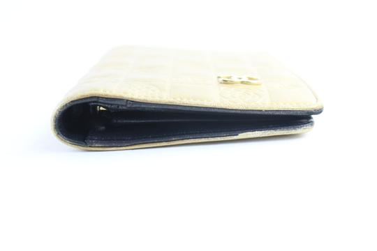Chanel Gold Embossed Chocolate Bar Quilted Long Wallet 226339r Image 10