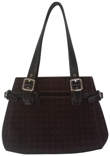 Preload https://img-static.tradesy.com/item/23622437/nine-west-every-day-dark-brown-leather-and-cloth-shoulder-bag-0-1-540-540.jpg