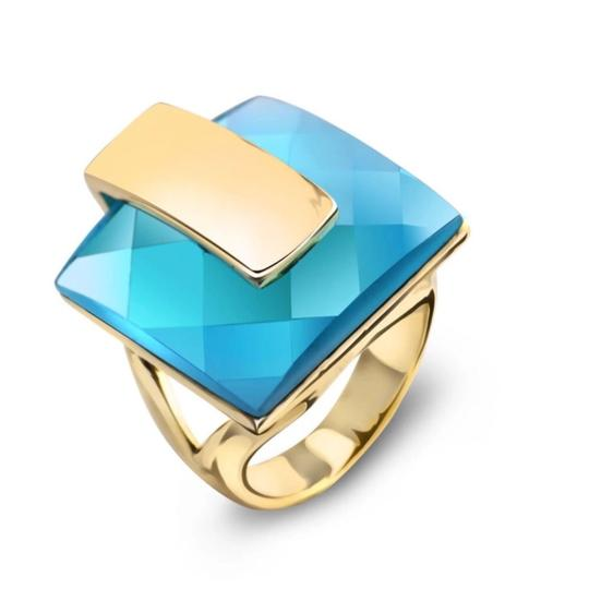 Preload https://img-static.tradesy.com/item/23622551/teal-and-gold-swarovski-crystals-faceted-blue-statement-s21-ring-0-0-540-540.jpg
