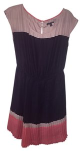 American Eagle Outfitters short dress lavender, navy, peach Pleated on Tradesy