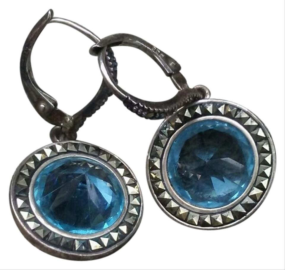 Judith Jack Judith Jack Sky Blue Swarovski Crystal Earrings ...