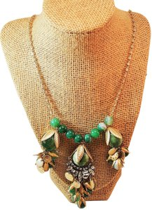 Lydell NYC Unique Chic Design by Lyndell NYC Gold Plated Beaded Green Necklace