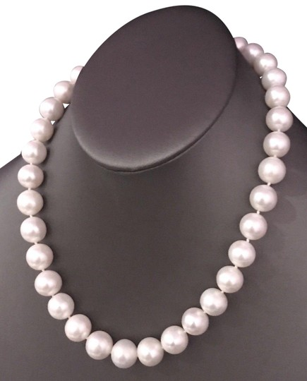 Estate FRESHWATER PEARLS LARGE 12-11.5 mm NECKLACE 14KT SOLID GOLD CLASP F6 Image 1
