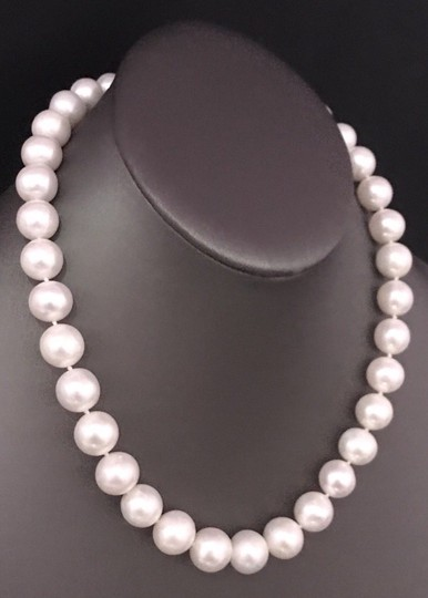 Estate FRESHWATER PEARLS LARGE 12-11.5 mm NECKLACE 14KT SOLID GOLD CLASP F6 Image 3
