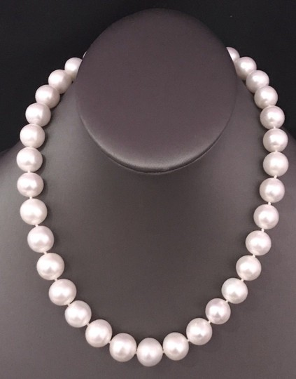 Estate FRESHWATER PEARLS LARGE 12-11.5 mm NECKLACE 14KT SOLID GOLD CLASP F6 Image 5