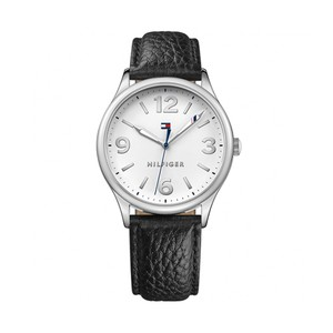 Tommy Hilfiger Leather Strap Silver Dial 1781596
