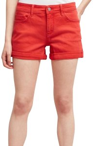 Anthropologie Cuffed Shorts red