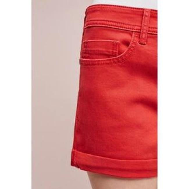 Anthropologie Cuffed Shorts red Image 2