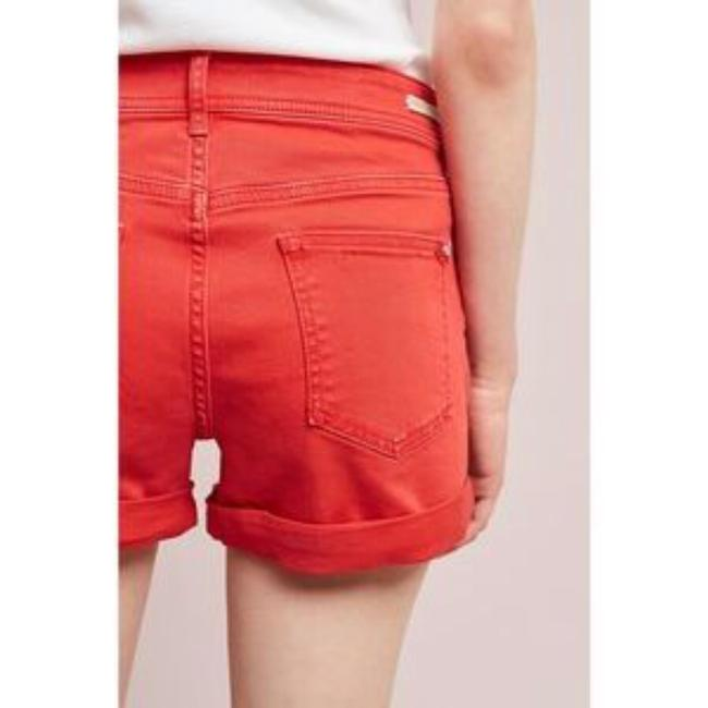 Anthropologie Cuffed Shorts red Image 3