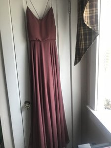 Jenny Yoo Cinnamon Rose Chiffon Inesse 39612452 Feminine Bridesmaid/Mob Dress Size 2 (XS)