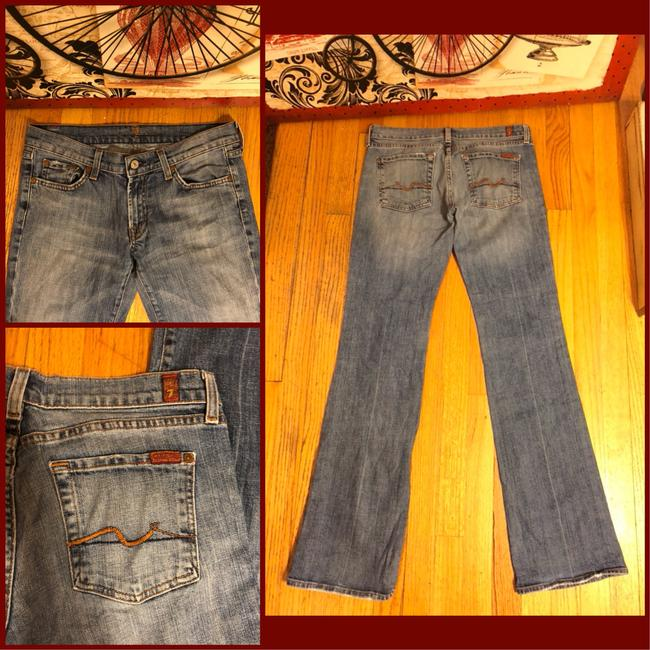 7 For All Mankind Boot Cut Jeans-Light Wash Image 3