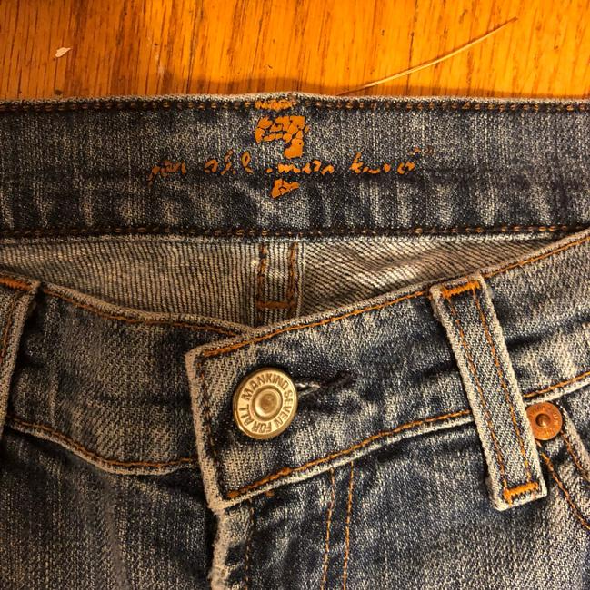7 For All Mankind Boot Cut Jeans-Light Wash Image 5