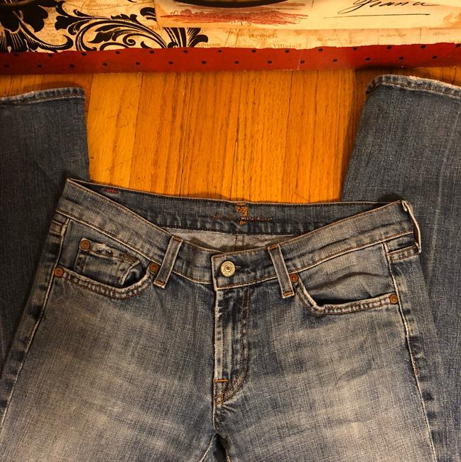 7 For All Mankind Boot Cut Jeans-Light Wash Image 9