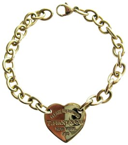 Tiffany & Co. Return To 18K Yellow Gold Heart Tag Charm Bracelet