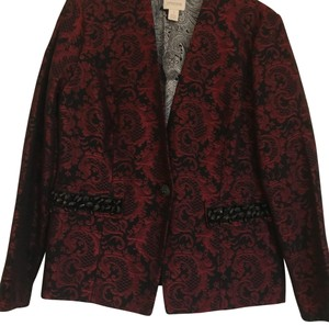 Chico's Red and Black Blazer