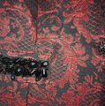 Chico's Red and Black Blazer Image 1
