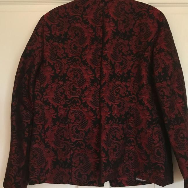 Chico's Red and Black Blazer Image 4