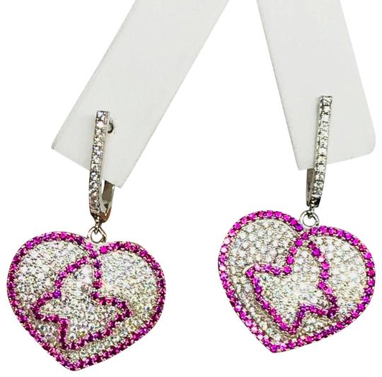 Enrico Kassini DESIGNER\ 18kt over 925 Silver Earrings w/ Cubic Z Diamonds Ge00548A Image 1