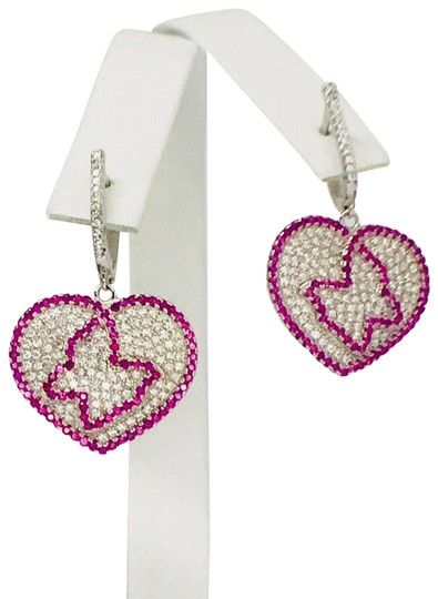 Enrico Kassini DESIGNER\ 18kt over 925 Silver Earrings w/ Cubic Z Diamonds Ge00548A Image 3