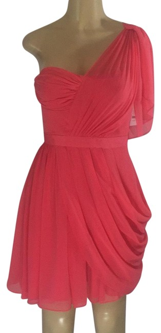 Preload https://img-static.tradesy.com/item/23623246/jessica-simpson-hot-pink-sexy-one-shoulder-short-cocktail-dress-size-4-s-0-1-650-650.jpg