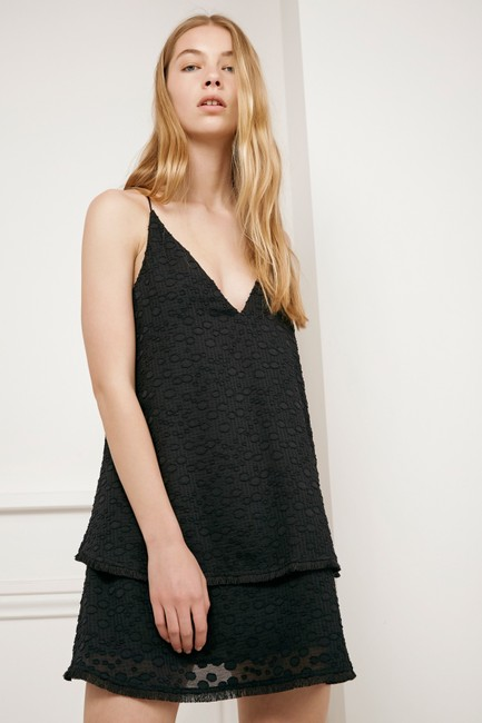 c/meo collective short dress black C/Meo Tiered Ruffle Cami on Tradesy Image 1