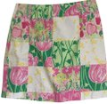 Lilly Pulitzer Mini Skirt Pink and Green Image 0