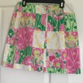 Lilly Pulitzer Mini Skirt Pink and Green Image 2
