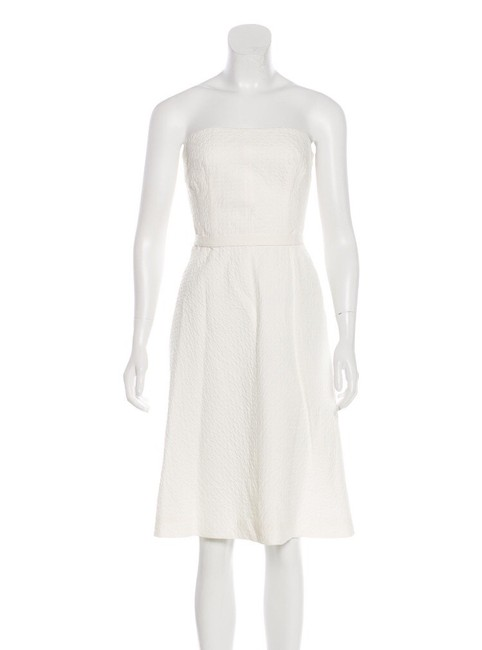 Preload https://img-static.tradesy.com/item/23623377/piazza-sempione-white-strapless-mid-length-short-casual-dress-size-8-m-0-2-650-650.jpg