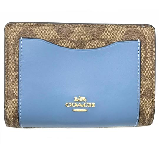Coach NEW COACH Medium Coated Canvas Zip Wallet Image 1