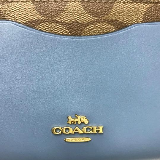 Coach NEW COACH Medium Coated Canvas Zip Wallet Image 2