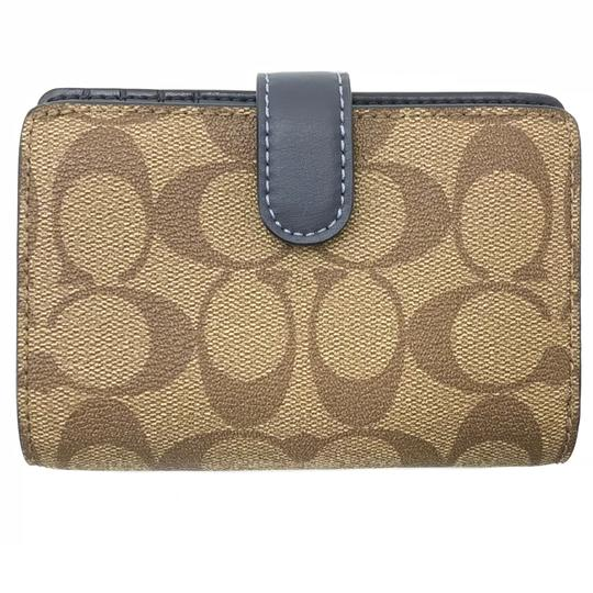 Coach NEW COACH Medium Coated Canvas Zip Wallet Image 3